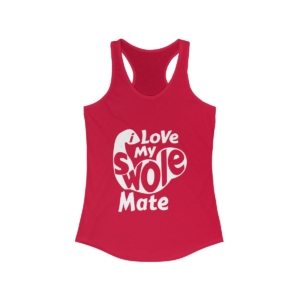 Love My Swole Mate – Women's Ideal Racerback Tank