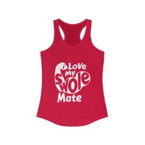 Love My Swole Mate – Women's Ideal Racerback Tank