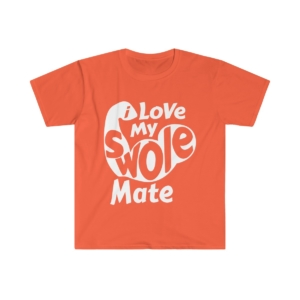 Love My Swole Mate – Men's Fitted Short Sleeve Tee