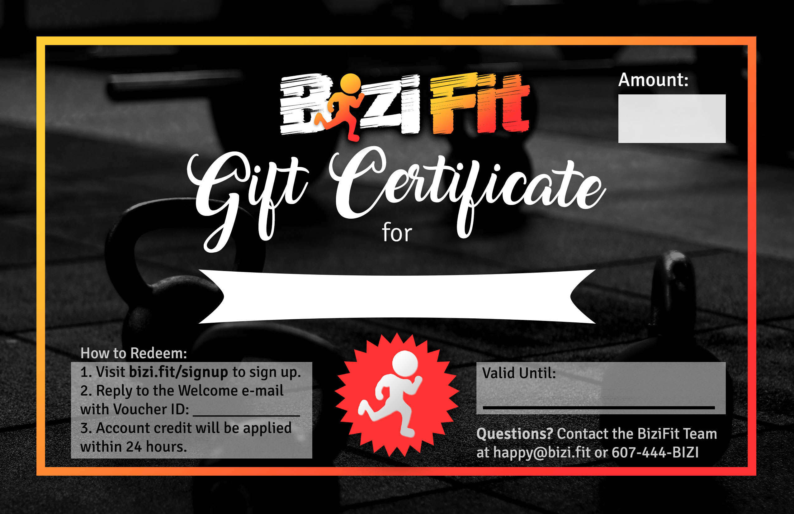 Gift Certificates – Fitness Gift Certificate Template