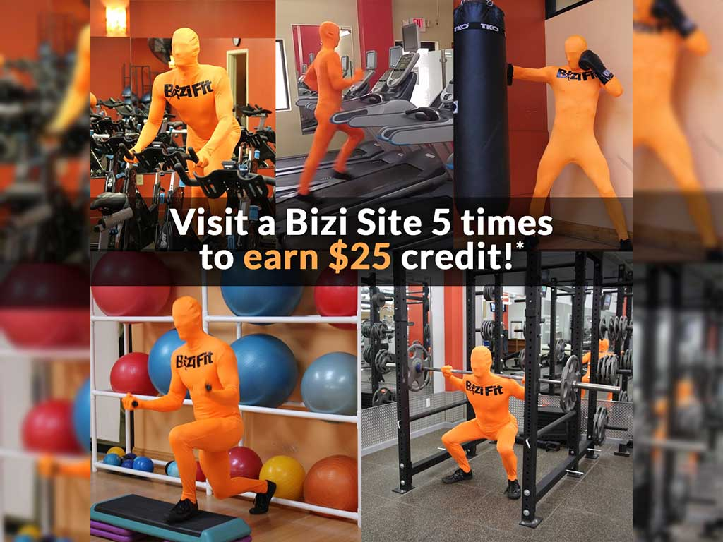 Earn $25 for every Bizi Site you visit at least 5 times!