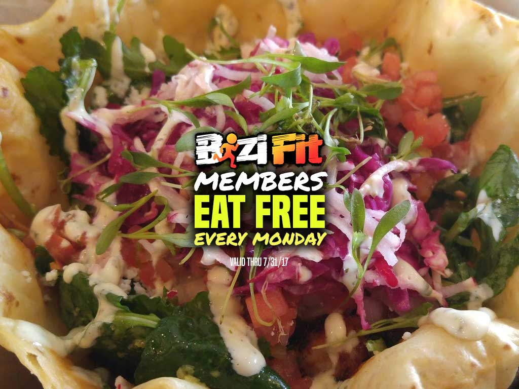 BiziFit Members Eat FREE Mondays!